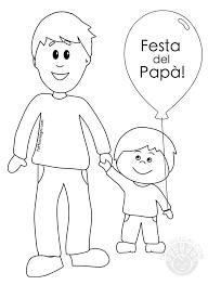 Padre E Figlio Disegni Per La Festa Del Papà Da Colorare Mamma E