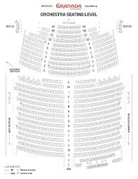 Grandel Theatre Seating Chart Granada Theatre Seating Chart Granada Theatre