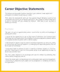 Career Goals Examples Basic Objective For Resume Simple Resume Objective Examples Me