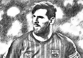 Kleurplaat Uefa Champions League 2019 Lionel Messi 2019 1