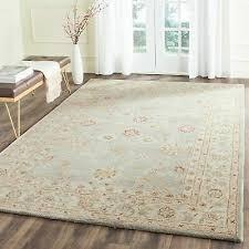 safavieh handmade antiquity blue grey beige wool rug 7 6 x
