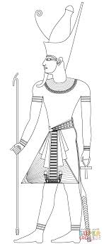 Small Picture Pharaoh with Double Crown coloring page Free Printable Coloring