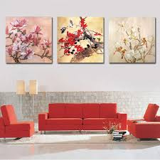 framed 3 panel large chinese traditional painting 3 piece canvas wall art feng shui flower picture on 3 piece framed wall art for sale with framed 3 panel large chinese traditional painting 3 piece canvas