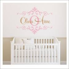 girls monogram decal nursery wall decal