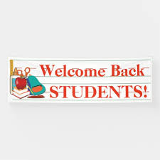 Welcome Back Students Customizable School Banner