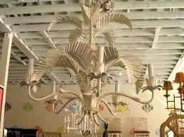 palm leaf chandelier vintage tole faux bamboo palm tree chandelier gold palm leaf chandelier palm leaf chandelier