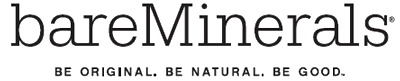 bare escentuals logo. that\u0027s what bareminerals represents. as the mineral experts, they believe makeup and skincare should not only make you look good, but also be bare escentuals logo