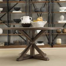 round farmhouse kitchen table charming tribecca home benchwright rustic x base round pine wood dining