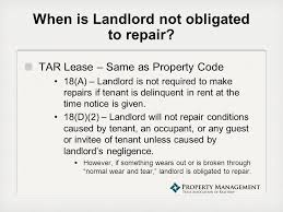 Notice To Tenant To Make Repairs Property Management Webinar Series The New Repair Paragraph Of The