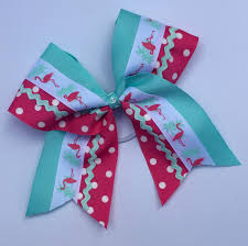 Cheer Bow Designs Summer Fun Flamingo Cheer Bow Otterly Cute Designs
