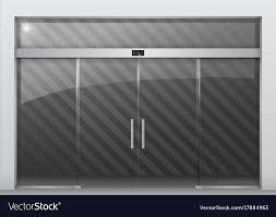 automatic glass doors vector image