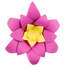 8 fuchsia hot pink lotus paper flower backdrop wall decor 3d premade