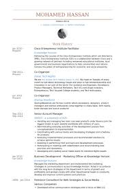 Cisco Entrepreneur Institute Facilitator Resume samples