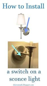 install a switch on a sconce light