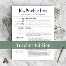 Elementary Teacher Resume Template For Word Pages 1 3 Modern Free