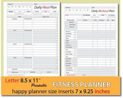 Meal Planner Weight Loss Journal Food Journal Food Diary Weight Watchers Planner Happy Planner Inserts Letter Size Instant Download