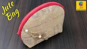 How to make a Jute <b>Bag</b> | Waste JUTE <b>Bag</b> Craft Idea | Ladies ...