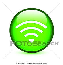 Clipart Of Green Wifi Or Wireless Sign Glossy Button K20836240