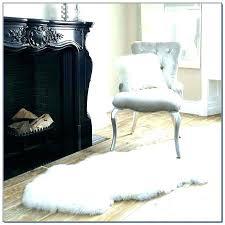 sheepskin rug white costco grey impressive large