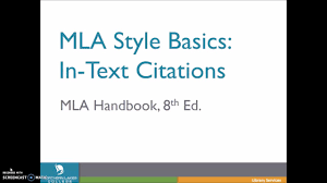 In Text Citations In Mla8