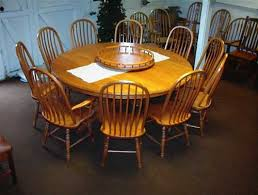 amish made round natural cherry table