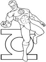 Small Picture Free printable Green Lantern coloring pages For Boys