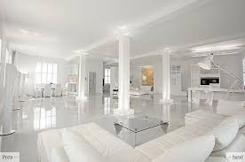Outstanding Modern Interior: All-White Interior Setting: Stunning House  With White Interiors Design With White Sofa Furniture And White Glossy  Porcelain ...