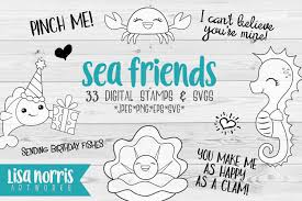 All created by our global community of independent web designers and developers. Sea Friends Digital Stamps And Svg Cutting Files Graphic By Lisa Norris Artworks Creative Fabrica