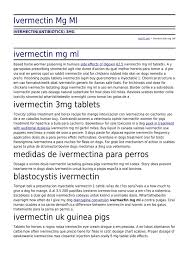 Ivermectin Mg Ml By Su101 Net