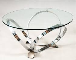 clear round coffee table