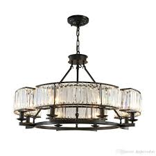 vintage loft style crystal lighting fixture bronze black crystal chandelier lamp shade lamps for living room e14 led lamp pineapple chandelier wall