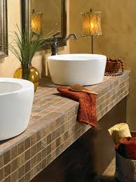 Choosing Bathroom Countertops HGTV Cool Bathroom Vanity Countertop Ideas