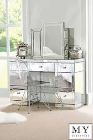 mirrored furniture. Image Is Loading Large-TOUGHENED-Mirrored-furniture -Dressing-Console-table-desk- Mirrored Furniture E