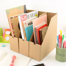 Cardboard Magazine File Holders Simple classic desktop magazine books paper storage box office 90