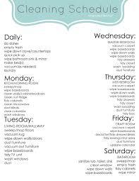 weekly cleaning schedule app
