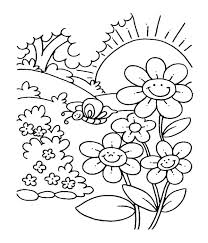 Spring Coloring Pages For Free Spring Printable Coloring Pages