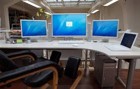 Image cool home office Whyguernsey Cool Enviously Cool Home Office Setups Designer Daily Graphic And Intended For Room Desk Setup Desk Ideas Cool Enviously Cool Home Office Setups Designer Daily Graphic And
