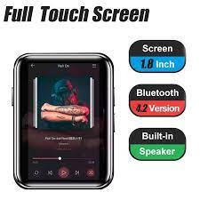 2021 X1 16GB MP3 oynatıcı tam dokunmatik ekran taşınabilir müzik çalar  Bluetooth 4.2 FM radyo kulaklık ile inşa hoparlör MINI MP3|MP3 Oynatıcı