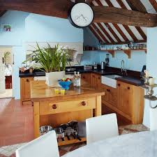 blue country kitchens. Blue Country Kitchen With Wooden Beams Kitchens K