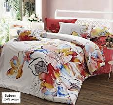 amanda sateen duvet cover set king size 4 pieces