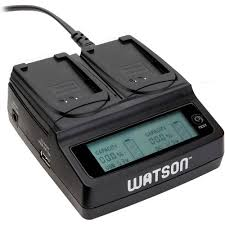 Watson Duo <b>LCD</b> Charger <b>with</b> Two <b>LP</b>-<b>E10</b> Battery Plates D-1518 ...