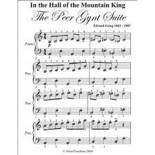 'in the hall of the mountain king' is an orchestral piece composed by edvard grieg in 1875 as incidental. In The Hall Of The Mountain King Grieg Easy Piano Sheet Music By Edvard Grieg