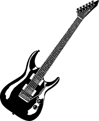 Small Picture Black Guitar Coloring Page Wecoloringpage