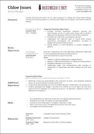 Community Service Worker Resume Clinical Social Sample Templates