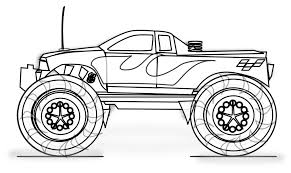 Small Picture Monster Truck Color Page Coloring Pages Online 308