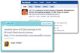 Find Jobs On Social Media Networks Linkedin Facebook Twitter