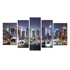 englant canvas print of new york city manhattan night skyline cityscape canvas wall art for home on canvas wall art new york city with amazon englant canvas print of new york city manhattan night