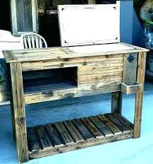 patio ice chest outdoor patio ice chest cooler rustic wooden ideas how to make a patio cooler ice chest