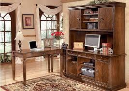 Brothers Fine Furniture Hamlyn L Shaped Desk w Hutch & Credenza