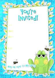 Downloadable Invitations